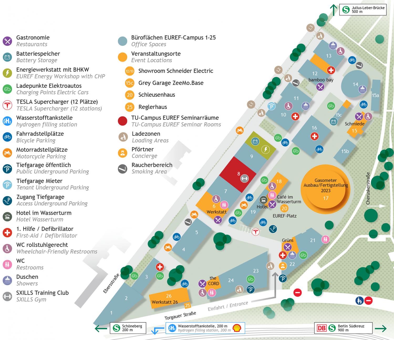 EUREF Campusplan