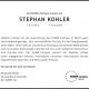 Traueranzeige Stephan Kohler